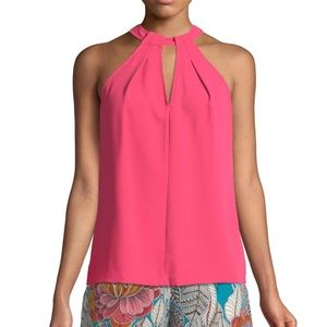 NWT TRINA TURK Quince High-Neck Sleeveless Top-MED